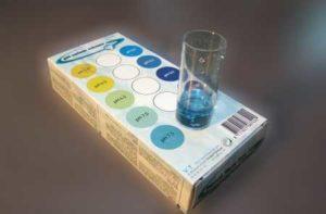 testset vijver - kleurschaal pH